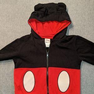 Disney Mickey Mouse zip up  sweatshirt sz 5T